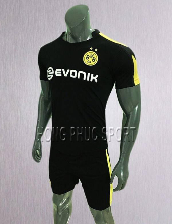 Bộ quần áo đấu Dortmund 2017 2018 sânkhách màu đen