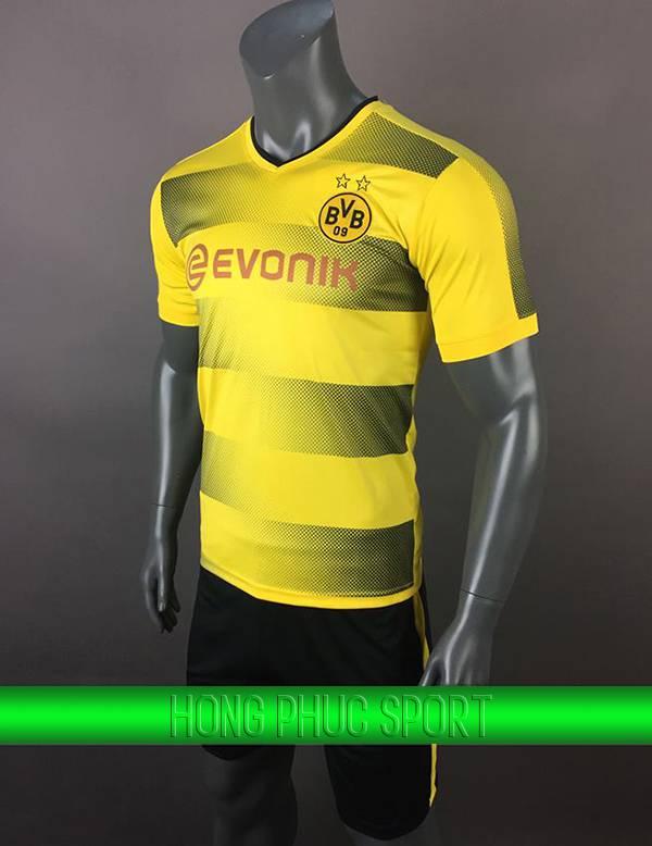 Bộ quần áo đấu Dortmund 2017 2018 sân nhà màu vàng phối đen