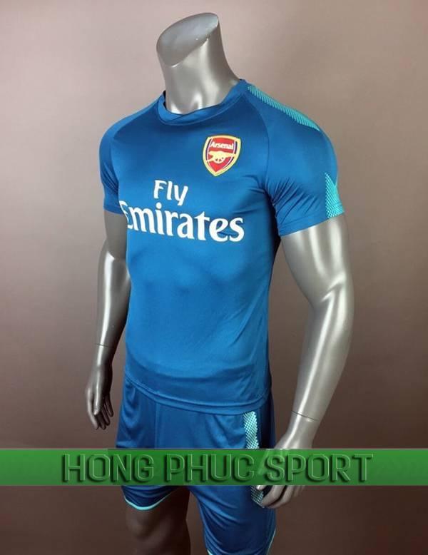 Bộ quần áo thủ môn Arsenal 2017 2018 màu xanh