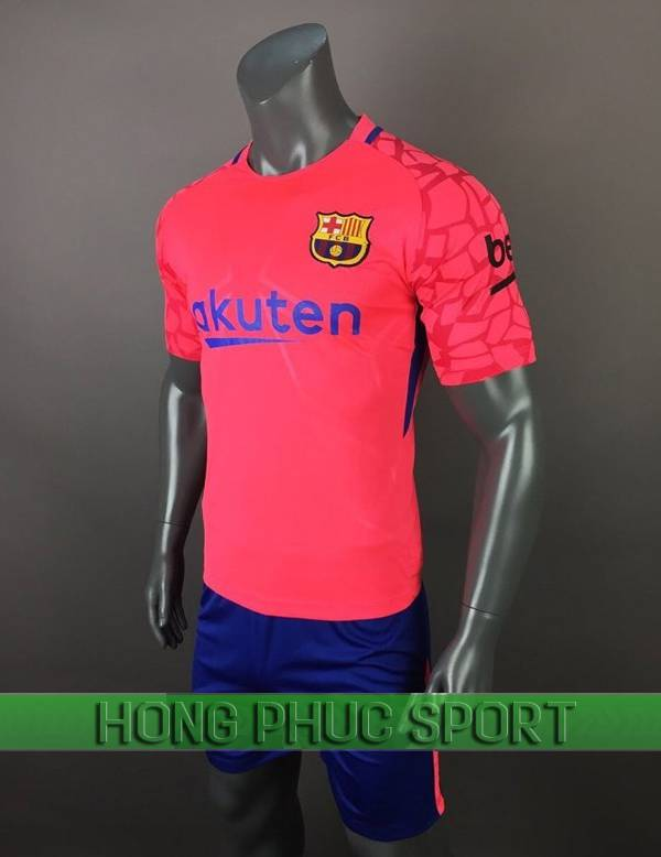 Bộ quần áo thủ môn Barcelona 2017 2018 màu hồng
