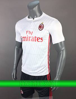 Mẫu áo AC Milan sân khách 2017 2018 màu trắng