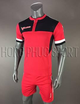 Đồ đá banh áo Eureka màu đỏ không logo 2017 2018