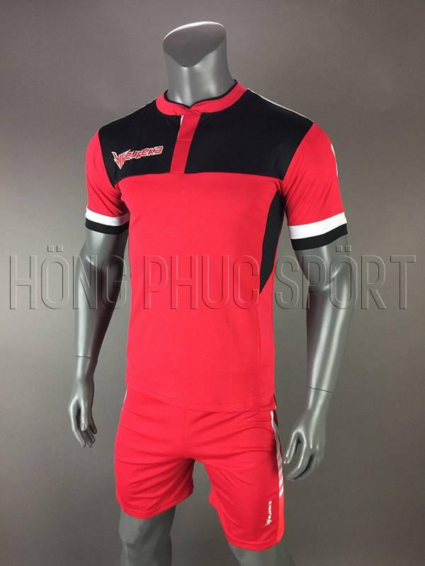 Bộ quần áo Eureka màu đỏ không logo 2017 2018