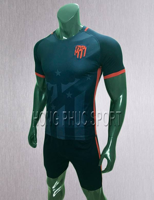 Bộ quần áo đấu Atletico Madrid 2017 2018 sân khách màu đen