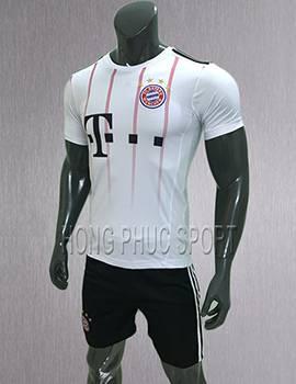 Bộ quần áo đấu Bayern Munich 2017 2018 sân khách màu trắng