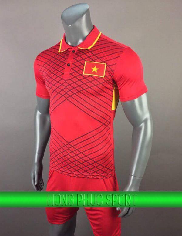 Bộ quần áo tuyển Việt Nam Sea Game 2017 2018 sân nhà mầu đỏ