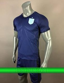 Mẫu áo tuyển Anh sân khách 2017 2018 xanh tím than