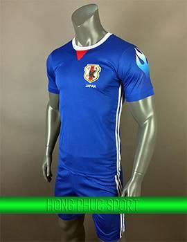 Áo đấu tuyển Nhật Bản 2017 2018 sân nhà xanh bích