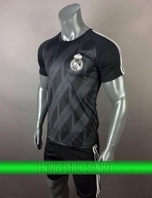 Bộ quần áo thủ môn Real Madrid 2017 2018 màu đen