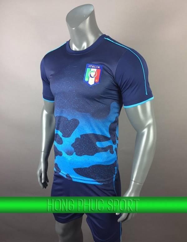 Bộ quần áo training tuyển Ý (Italy) xanh đen 2017 2018