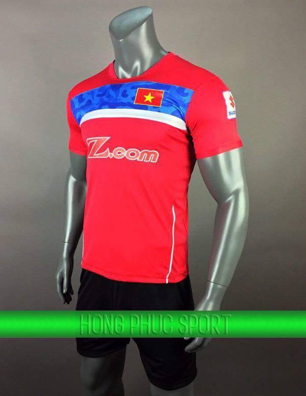Bộ quần áo training tuyển Việt Nam 2017-2018 màu đỏ
