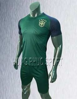 Mẫu áo tuyển Brazil sân khách 2017 2018 xanh rêu
