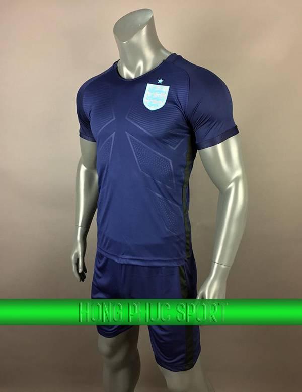 Bộ quần áo tuyển Anh sân khách 2017 2018 xanh tím than
