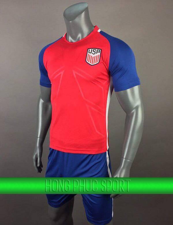 Bộ quần áo đấu tuyển Mỹ sân khách 2017 2018 màu đỏ