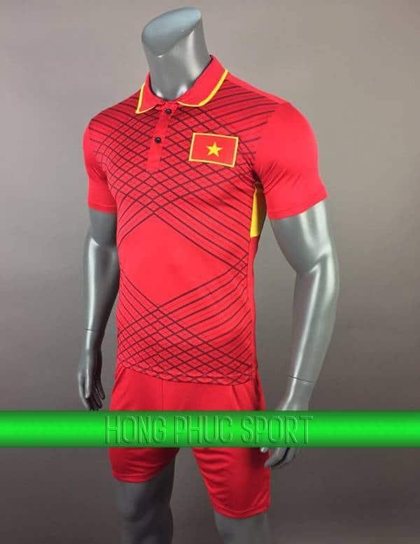 Bộ quần áo đấu tuyển Việt Nam 2017-2018 sân nhà màu đỏ