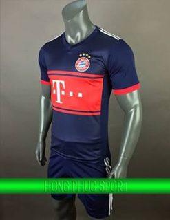 Áo đấu Bayern Munich sân khách 2017 2018 tím than