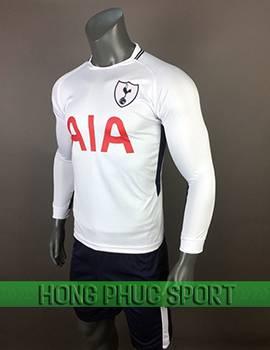 Mẫu áo Tottenham sân nhà 2017 2018 dài tay màu trắng