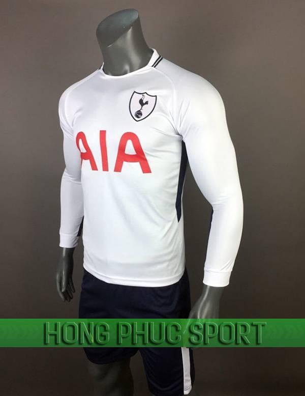 Bộ quần áo đấu Tottenham sân nhà tay dài 2017 2018 màu trắng