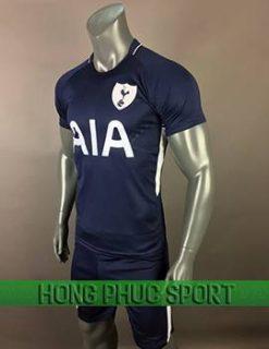 áo đấu Tottenham sân khách 2017 2018 xanh tím than