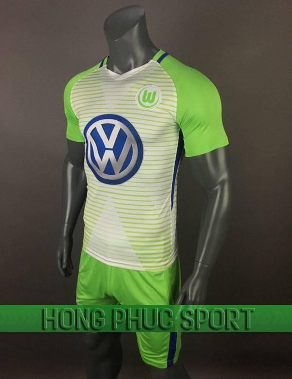 Bộ quần áo đấu Wolfsburg sân nhà 2017 2018 xanh chuối