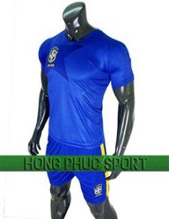 Mẫu áo Brazil Wolrd Cup 2018 sân khách màu xanh