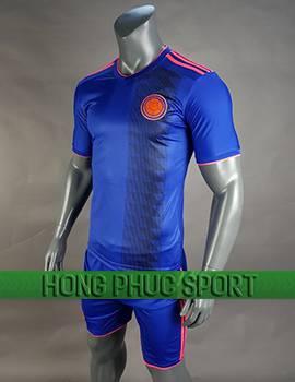 Mẫu áo đấu tuyển Colombia sân khách World Cup 2018 màu xanh