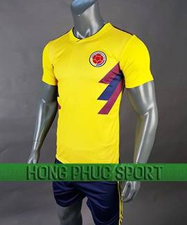 Mẫu quần áo đấu tuyển Colombia sân nhà World Cup 2018 màu vàng