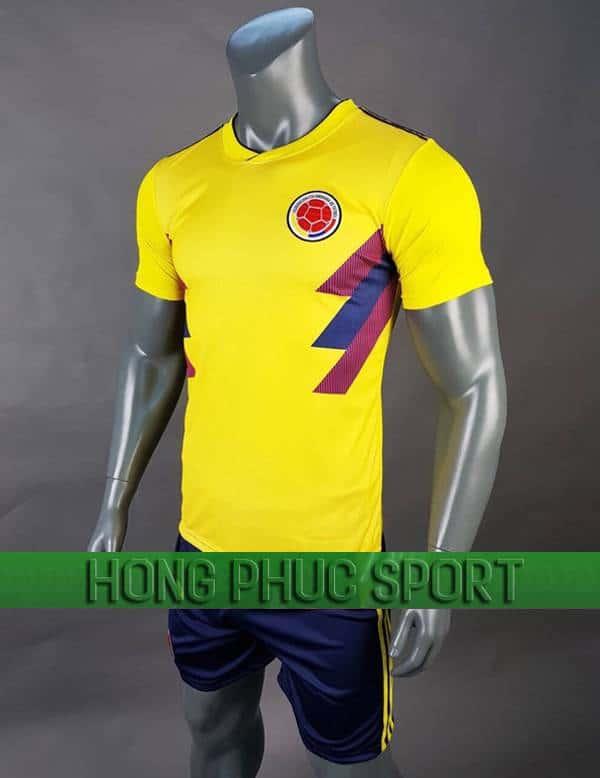 Bộ quần áo đấu tuyển Colombia sân nhà World Cup 2018 màu vàng