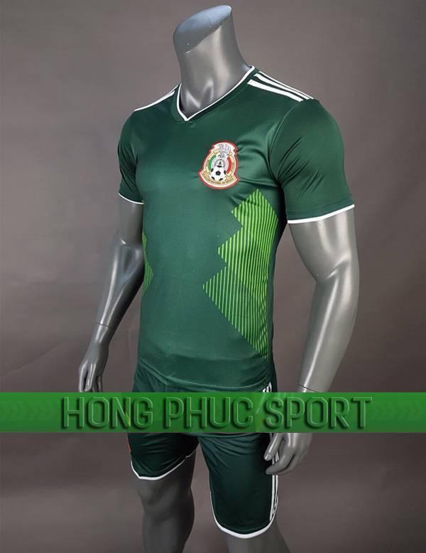 Bộ quần áo đấu tuyển Mexico sân nhà World Cup 2018 xanh lá cây