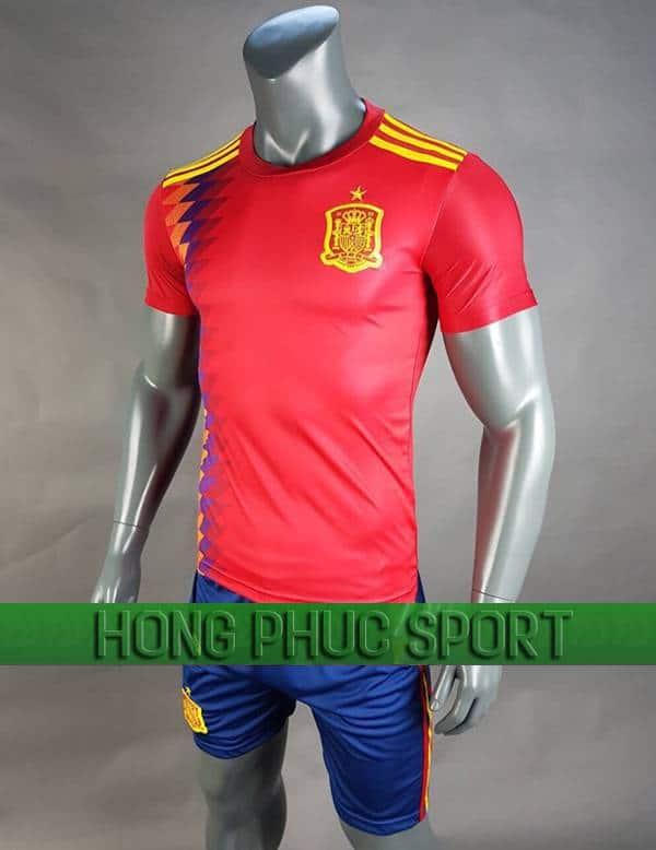 Mẫu áo đấu tuyển Tây Ban Nha World Cup 2018 sân nhà màu đỏ