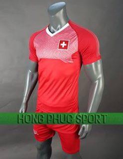 Mẫu áo đấu tuyển Thụy Sĩ World Cup 2018 mầu đỏ