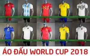 Tổng hợp mẫu áo đấu đội tuyển quốc gia world cup 2018