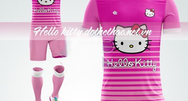 Đồ đá banh hello kitty 2018 2019 mầu hồng đậm