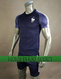 Mẫu áo tuyển Pháp World Cup 2018 tím than