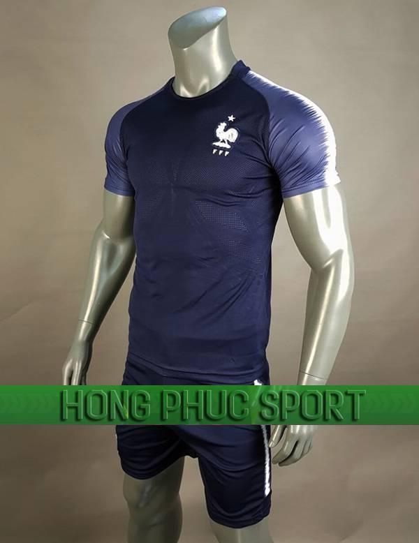 Bộ quần áo tuyển Pháp World Cup 2018 tím than