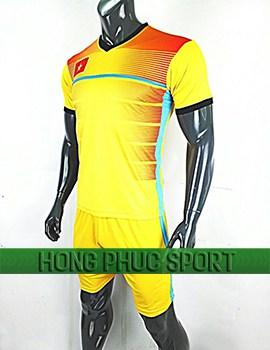 Mẫu áo training U23 Việt Nam AFC Cup 2018 mầu vàng