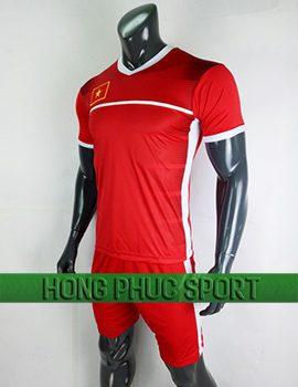 Đồ đá banh áo training Việt Nam AFC Cup 2018 màu đỏ viền trắng