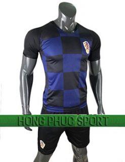 Đồ đá banh áo tuyển Croatia World Cup 2018 mầu xanh