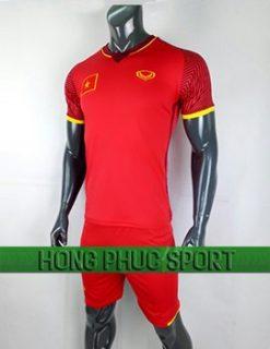 Đồ đá banh áo tuyển Việt Nam VCK Châu Á 2018 sân nhà màu đỏ
