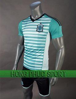 Mẫu áo thủ môn Tây Ban Nha World Cup 2018 mầu xanh