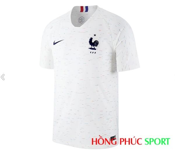 Áo đấu sân khách đội tuyển Pháp (phía ngực áo)