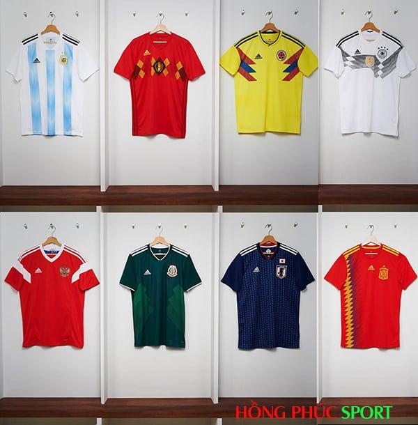 Mẫu áo đấu World Cup 2018 của 8 đội bóng do Adidas thiết kế.