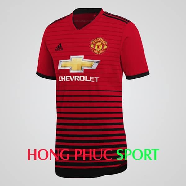 mẫu áo đấu Manchester United 2018 2019 sân nhà mầu đỏ