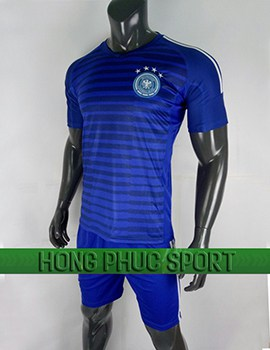 Đồ đá banh áo training tuyển Đức World Cup 2018 mầu xanh bích