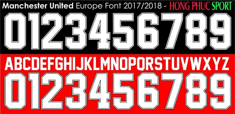 Font áo Manchester United 2017/2018