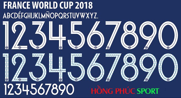Font áo Pháp World Cup 2018