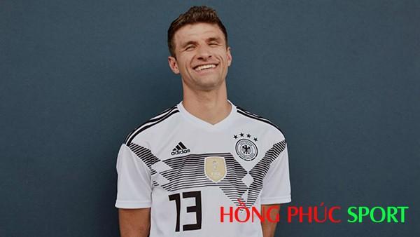 Thomas Muller rạng rỡ trong áo đấu World Cup 2018 của Đức