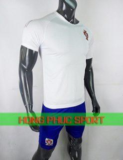 Áo tuyển Bồ Đào Nha sân khách World Cup 2018 màu trắng
