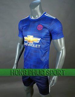 áo đấu Man United sân khách 2018 2019 màu xanh