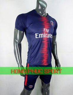 Bộ áo đấu Paris Saint Germain sân nhà 2018 2019 màu tím than